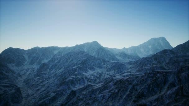 8 k anténa horské krajiny ve vysokých nadmorských výškách