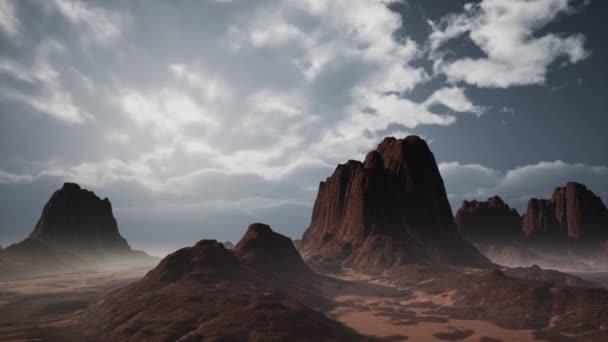 Skalní útvary v Nevadské poušti