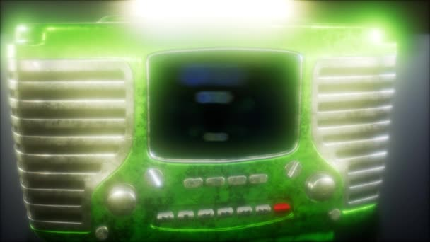 Staromódní vintage retro rádio