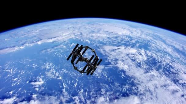 Mezinárodní kosmická stanice v kosmickém prostoru nad planety země