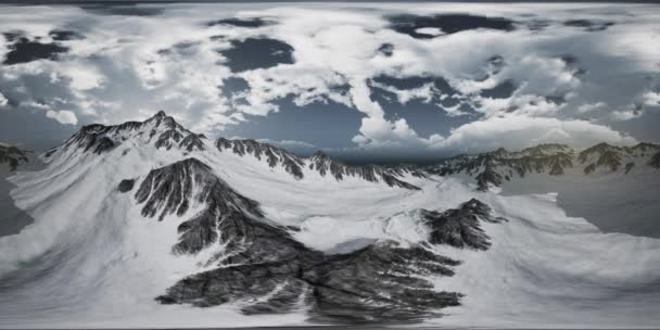 VR-360 norvég hegyek súlyos táj