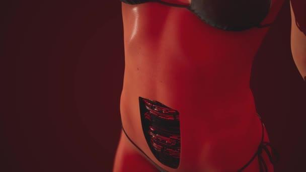 Žena, futuristické cyborg. humanoidní robot concept