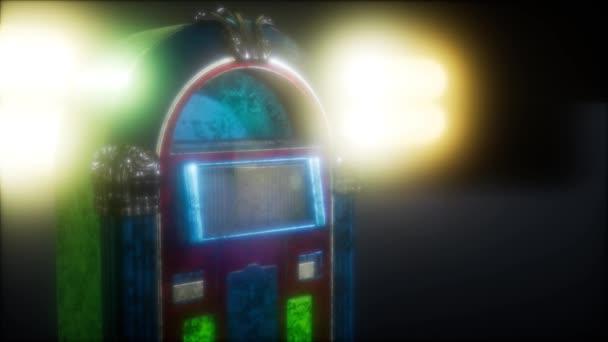 retro jukebox a sötétben
