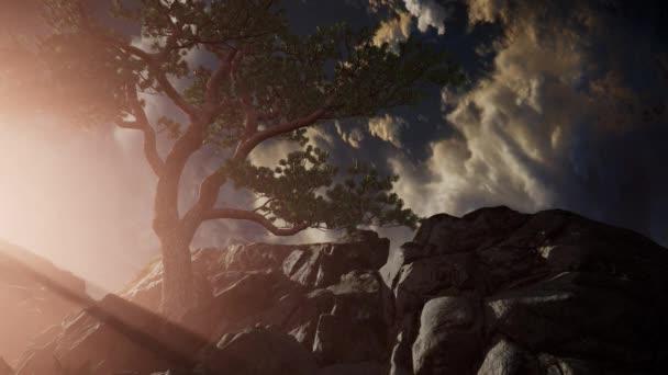gyönyörű kilátás cloudscape és a hegyek felett