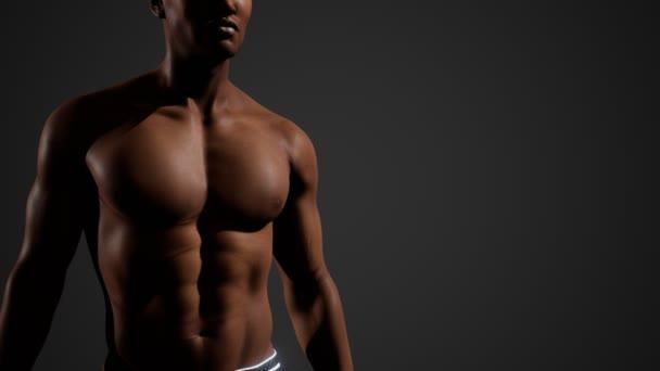 Afroamerikaner mit nackter Brust