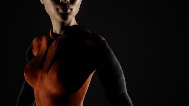Sexy ženský prsa a bradavky skrz elegantní Hoz