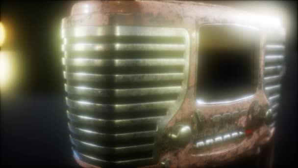 Old fashioned vintage retro radio