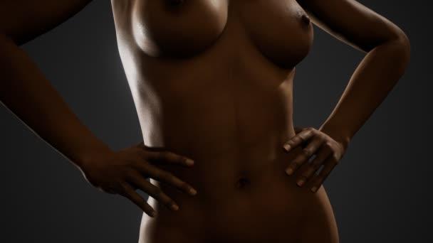 Gyönyörű meztelen teste, a fiatal és szexi nő