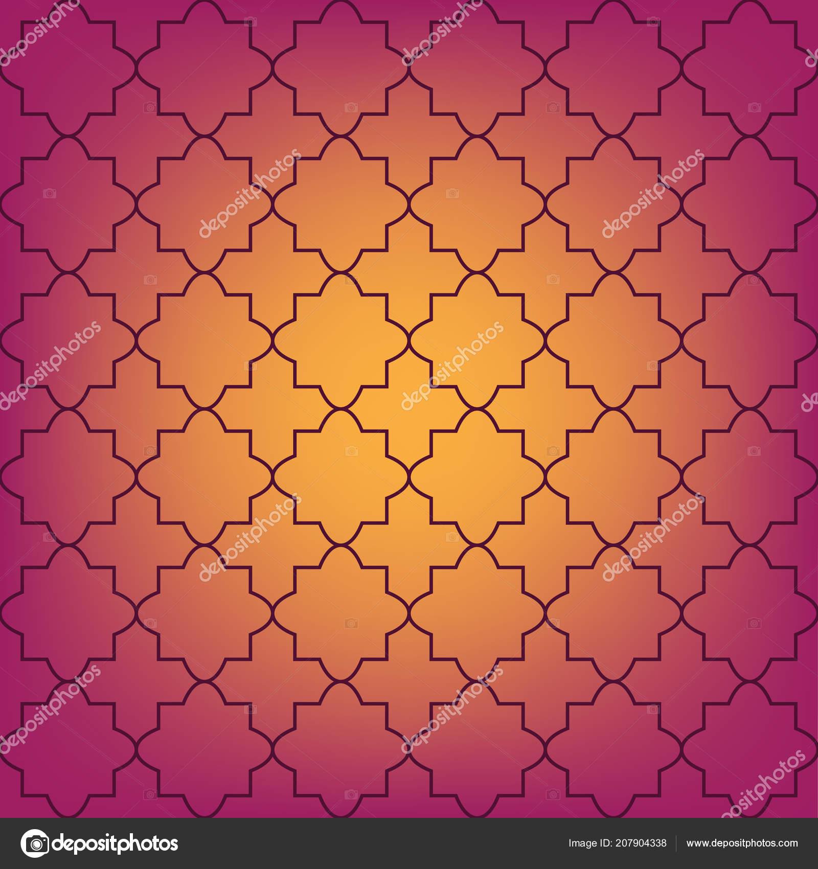 Seamless Pattern Marocaine Vecteur Dans Des Couleurs Chaudes — Image ...