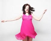 Fényképek tündér repül a lány rózsaszín ruha