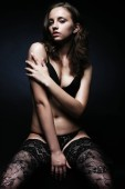Fotografie Beautiful young woman in sexy lingerie