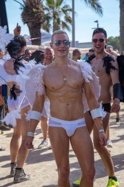Pride of the lesbian, gay, bisexual and transgender People in the streets of Sitges, Spain on 17. Juny, 2018