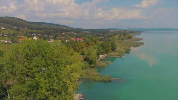 Drone légi felvételeket a lake Balaton, Magyarország