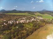 Légi drone a képet a tavak közelében a Balaton, a magyar falu Salfold