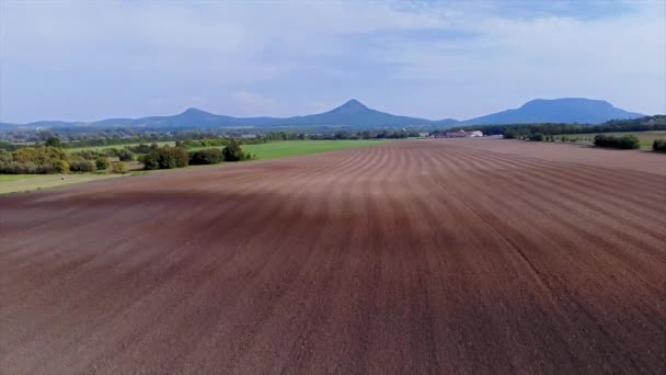 Drone footage from a Hungarian plow land