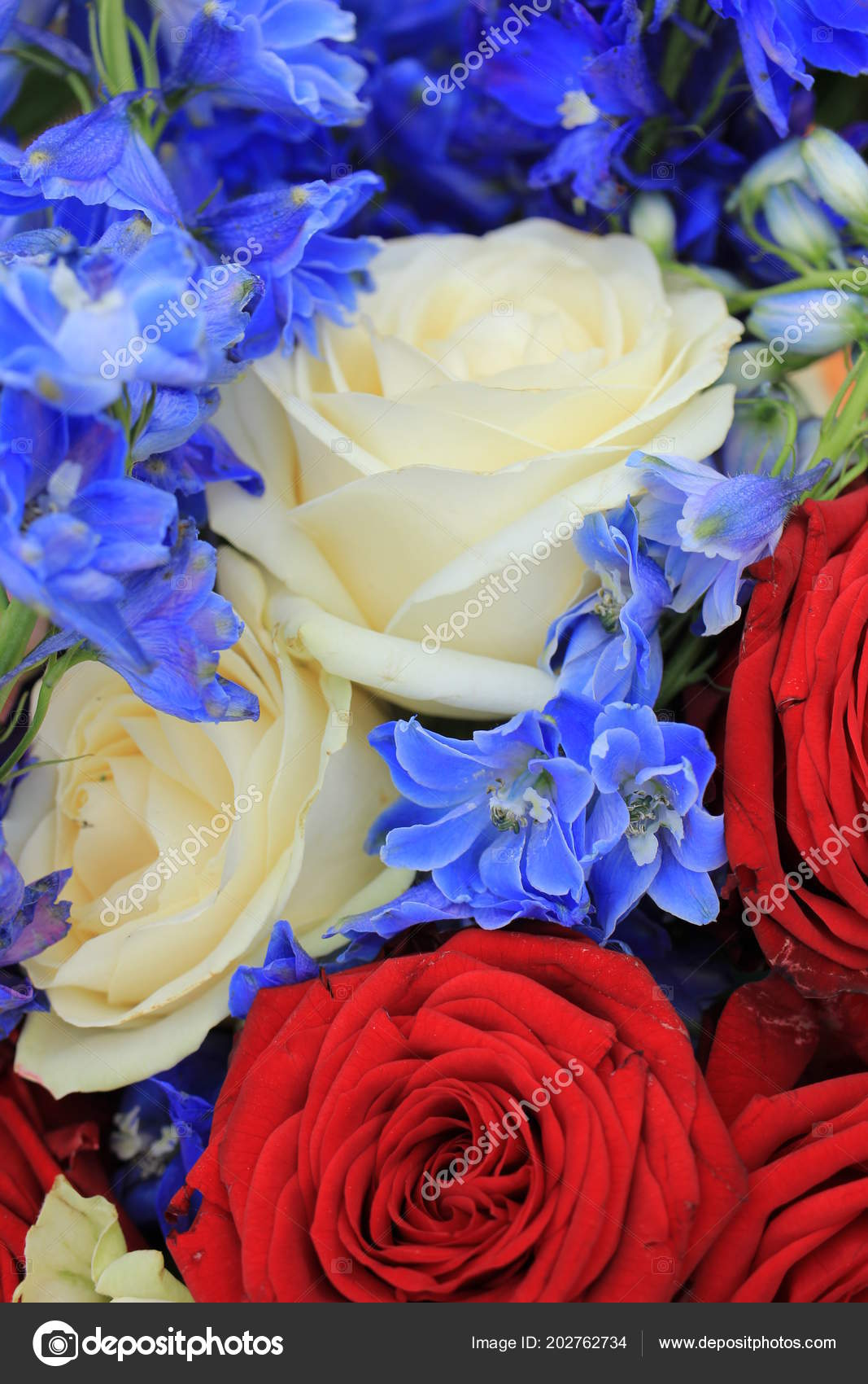 Red White Blue Wedding Flowers Patriotic Themed Wedding Stock