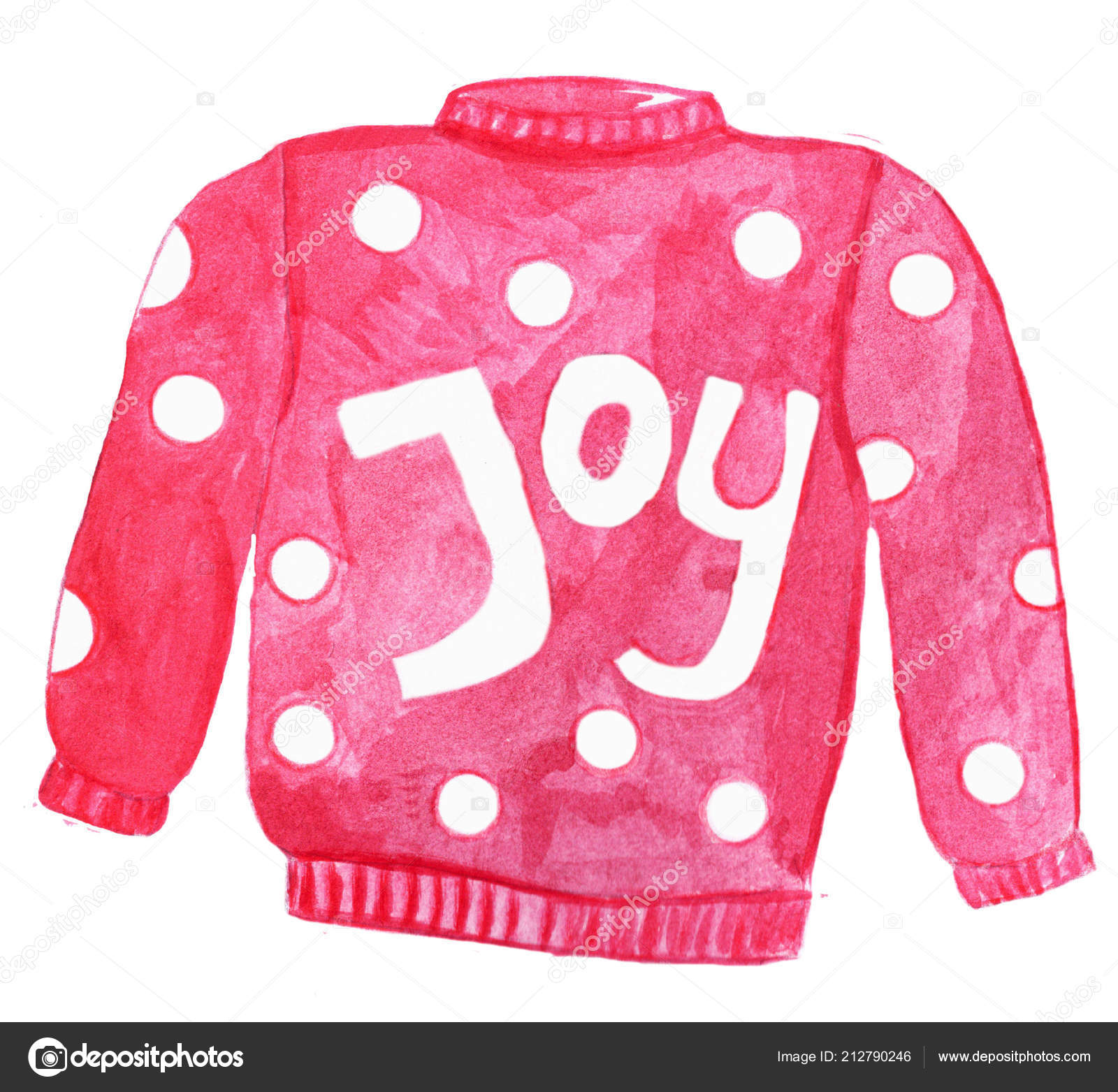 22616581a Handpainted Watercolor Ugly Christmas Sweater — Stock Photo ...
