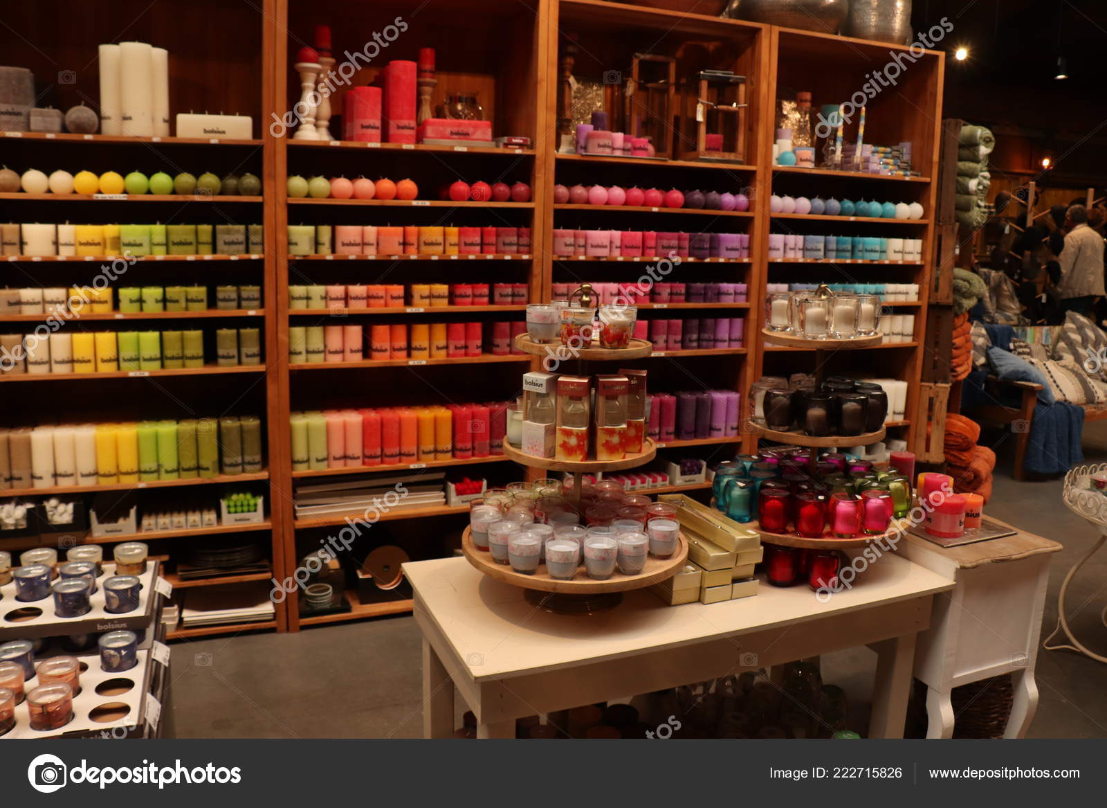 Cruquius Netherlands October 26Th 2018 Candles Display Home Decoration Store  U2014 Stock Photo