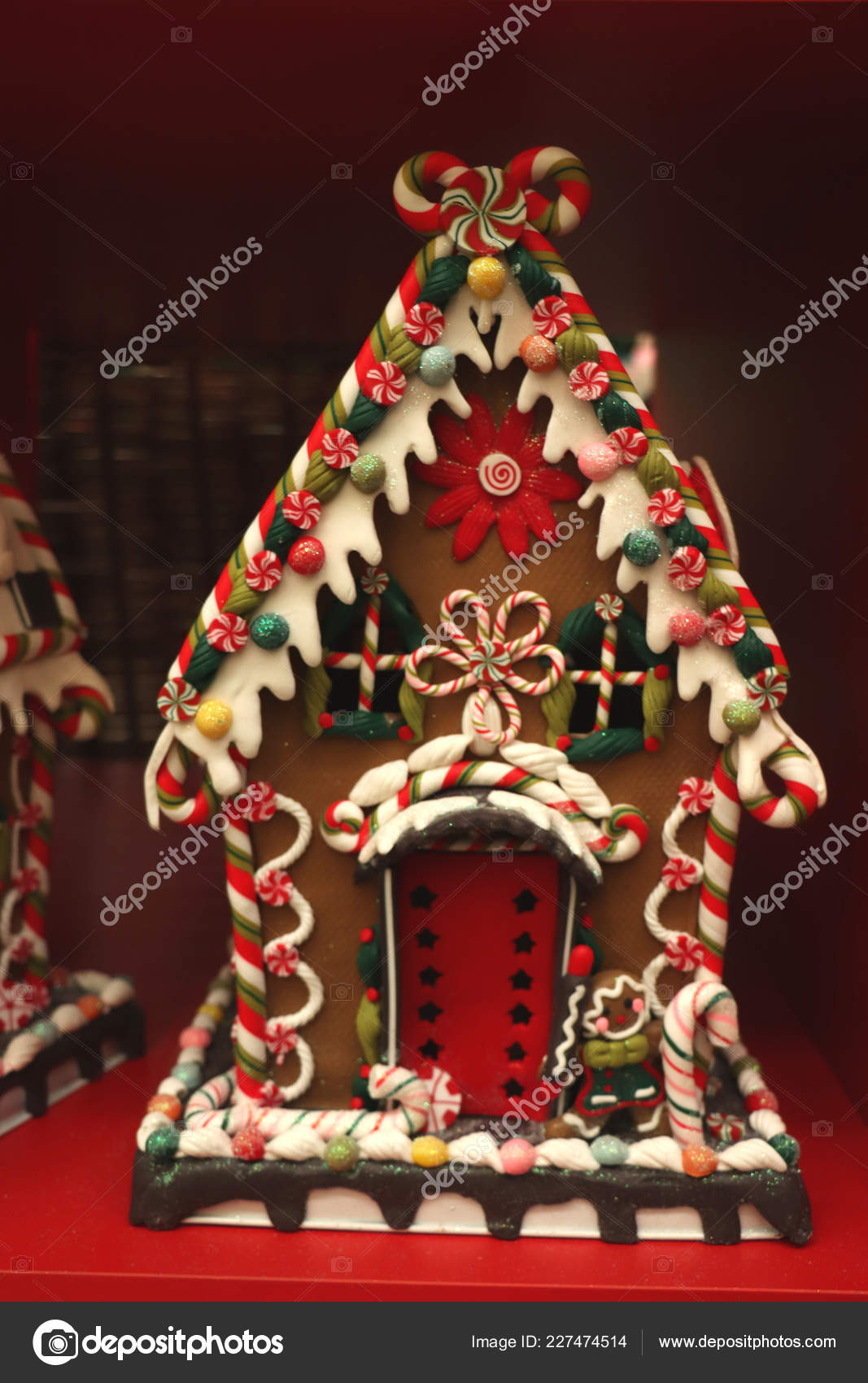 Aalsmeer the Netherlands November 7th 2018 Gingerbread house Christmas decorations in an interior decoration shop