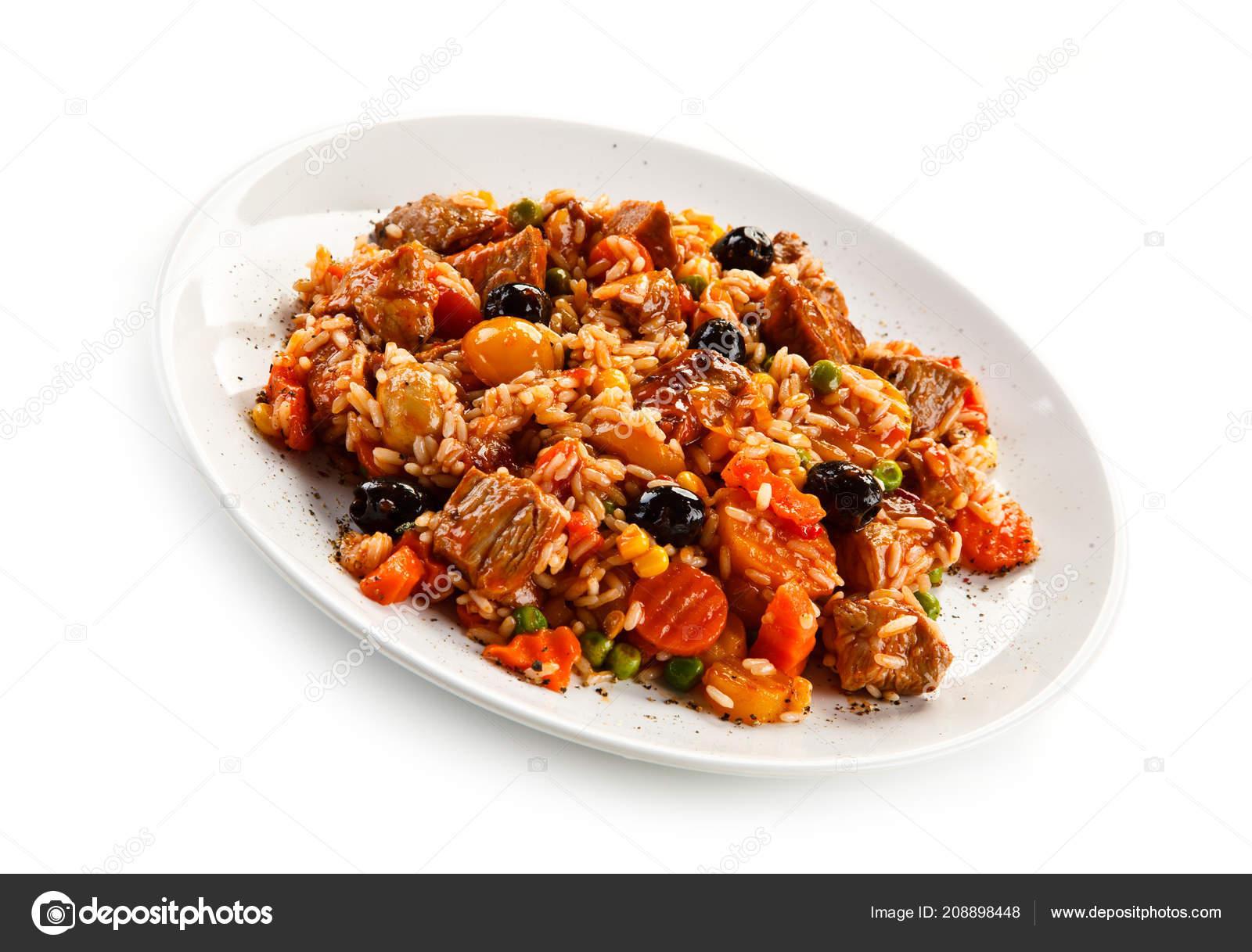 Risotto de carne y verduras