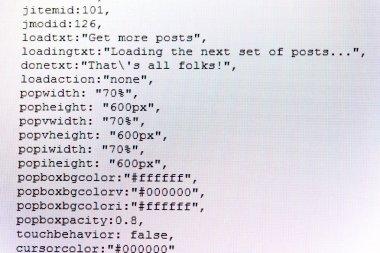 programming code abstract screen of software developer, computer script concept