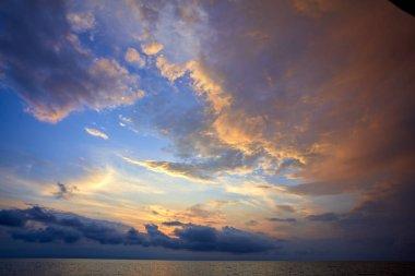 beautiful seascape at amazing summer sunset