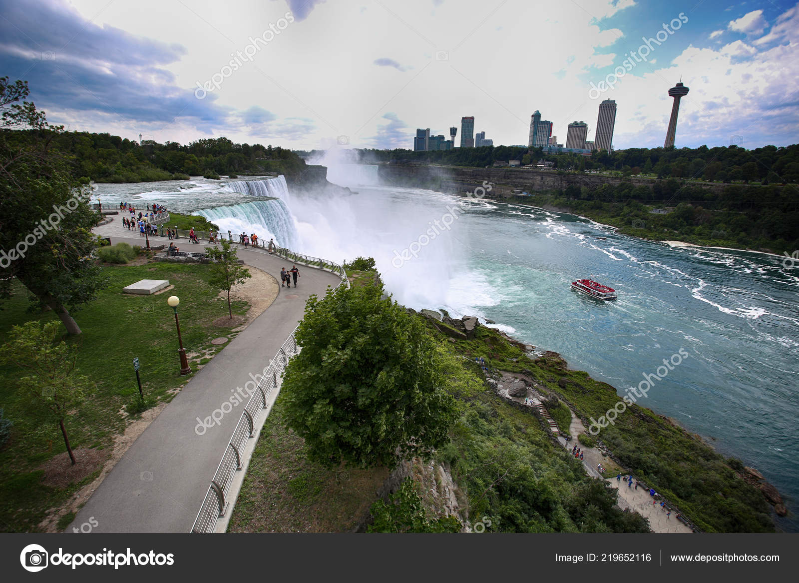 Niagara Falls Usa August 2018 Tourists View Niagara Falls