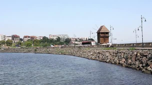 old wooden windmill Nessebar Bulgaria