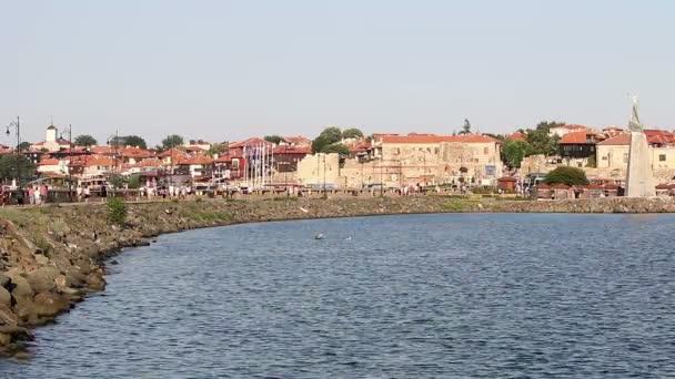 Old town Nessebar cityscape Bulgaria summer season