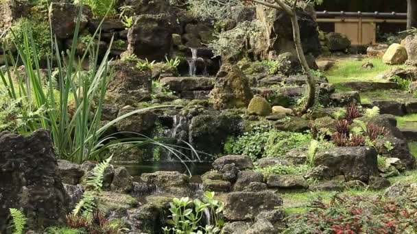 ein japanischer Garten mit Wasser und Pflanzen