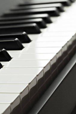 Piano keyboard close-up shot