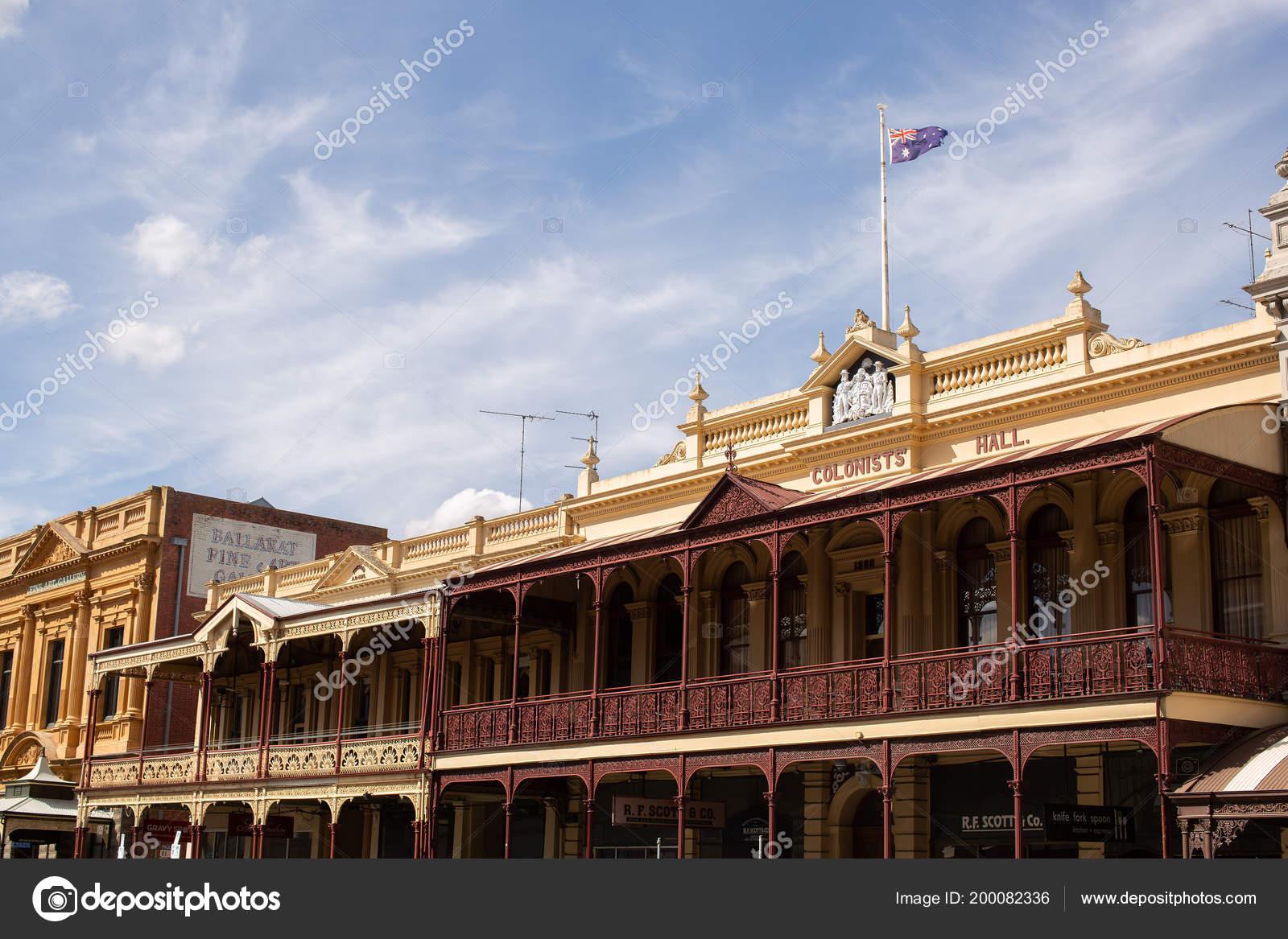 Ballarat Australia March 2017 Exterior View Historic Buildings Rural