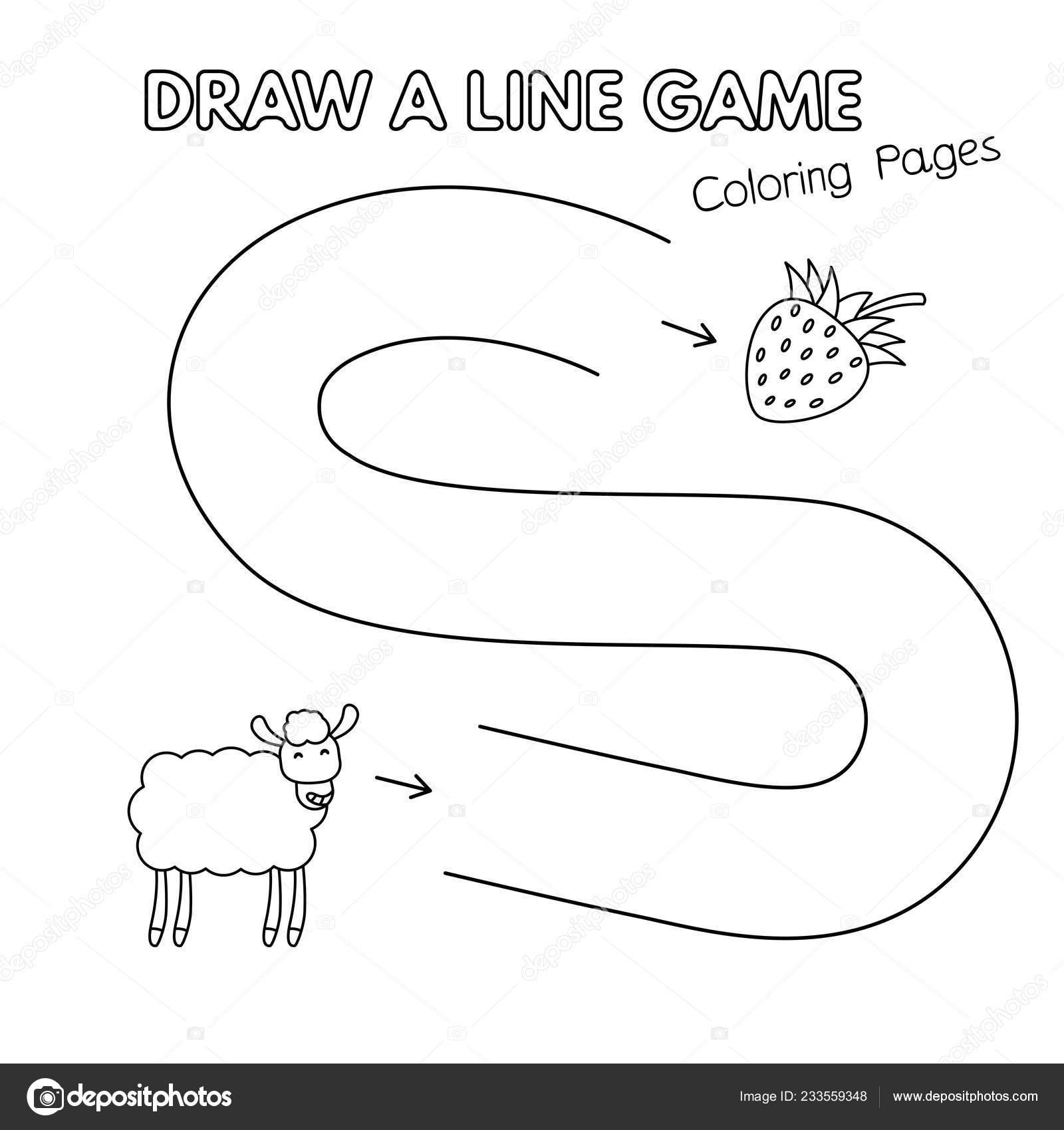 Ovejas De Dibujos Animados Para Colorear Juego De Libro Para Niños