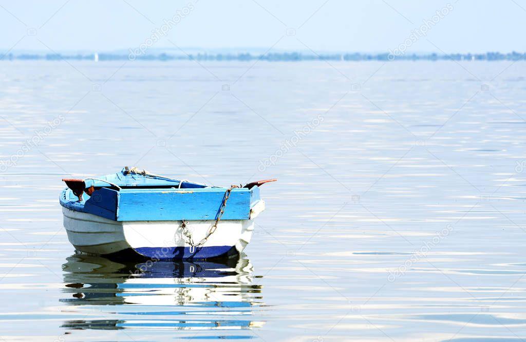 Angler boat at Lake Balaton, Hungary