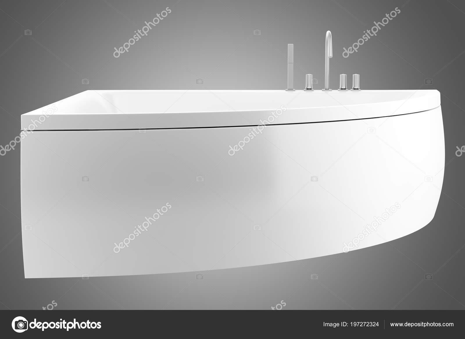 Vasca Da Bagno Angolare Moderna : Vasca bagno angolare moderno isolato sfondo grigio illustrazione