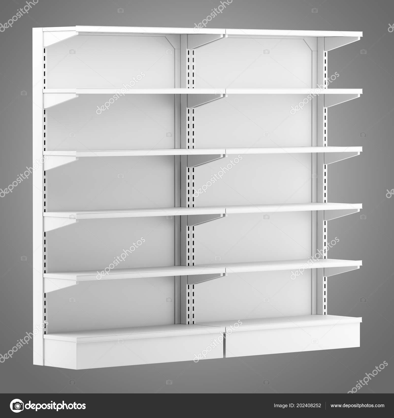 Astonishing Empty Supermarket Shelves Isolated Gray Background Home Remodeling Inspirations Genioncuboardxyz