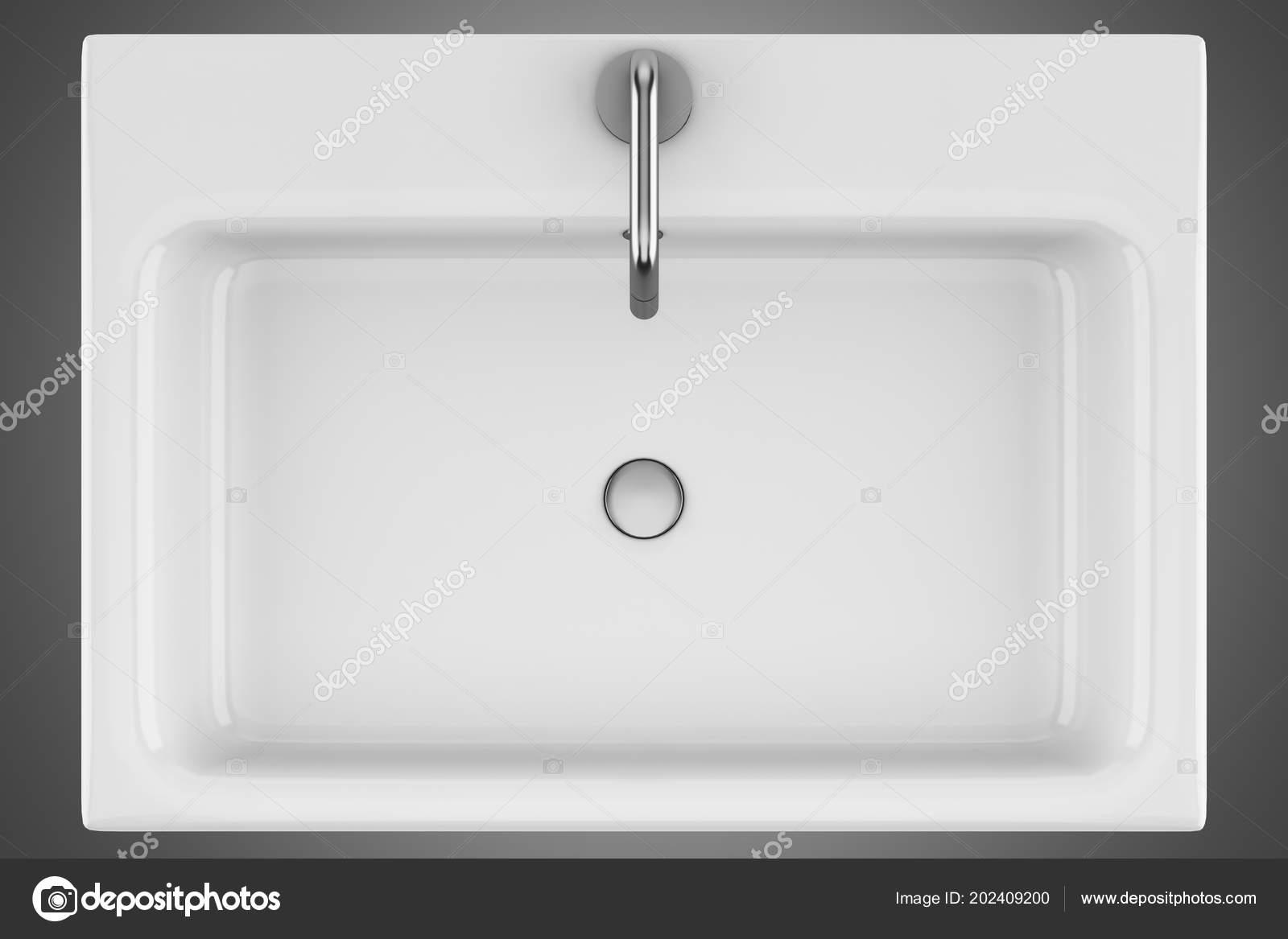 Wasbak Badkamer Grijze : Bovenaanzicht van keramische badkamer wastafel geïsoleerd een