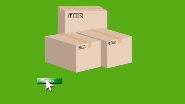 Video znázorňující prodej zboží a vyjádření vděčnosti