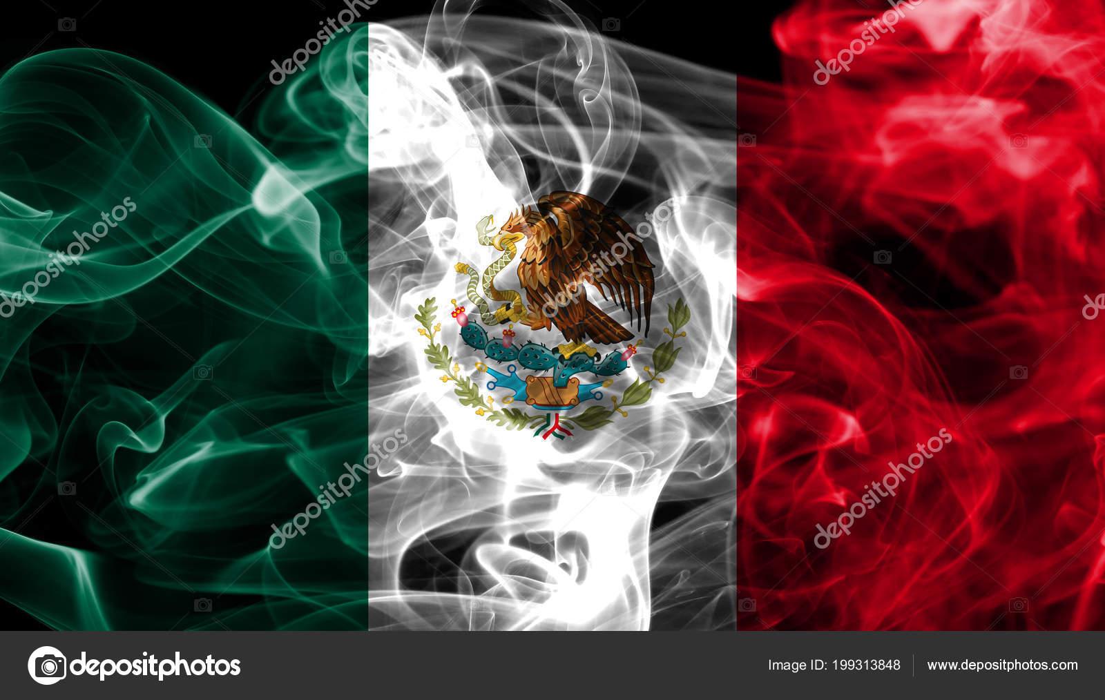 Fondo: Bandera De Mexico Negro