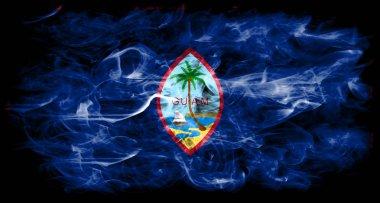"Картина, постер, плакат, фотообои ""Гуам дым флаг, флаг зависимой территорией Соединенных Штатов Америки"", артикул 199961462"
