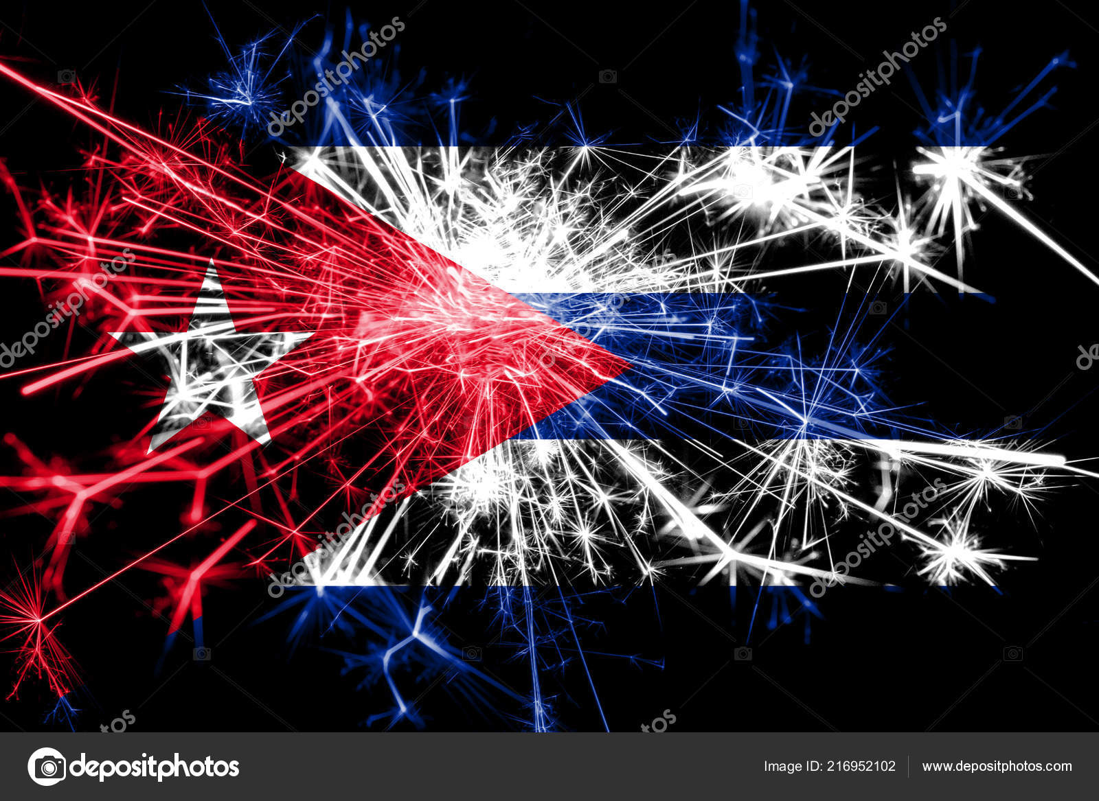 Christmas In Cuba 2019.Cuba Fireworks Sparkling Flag New Year 2019 Christmas Party
