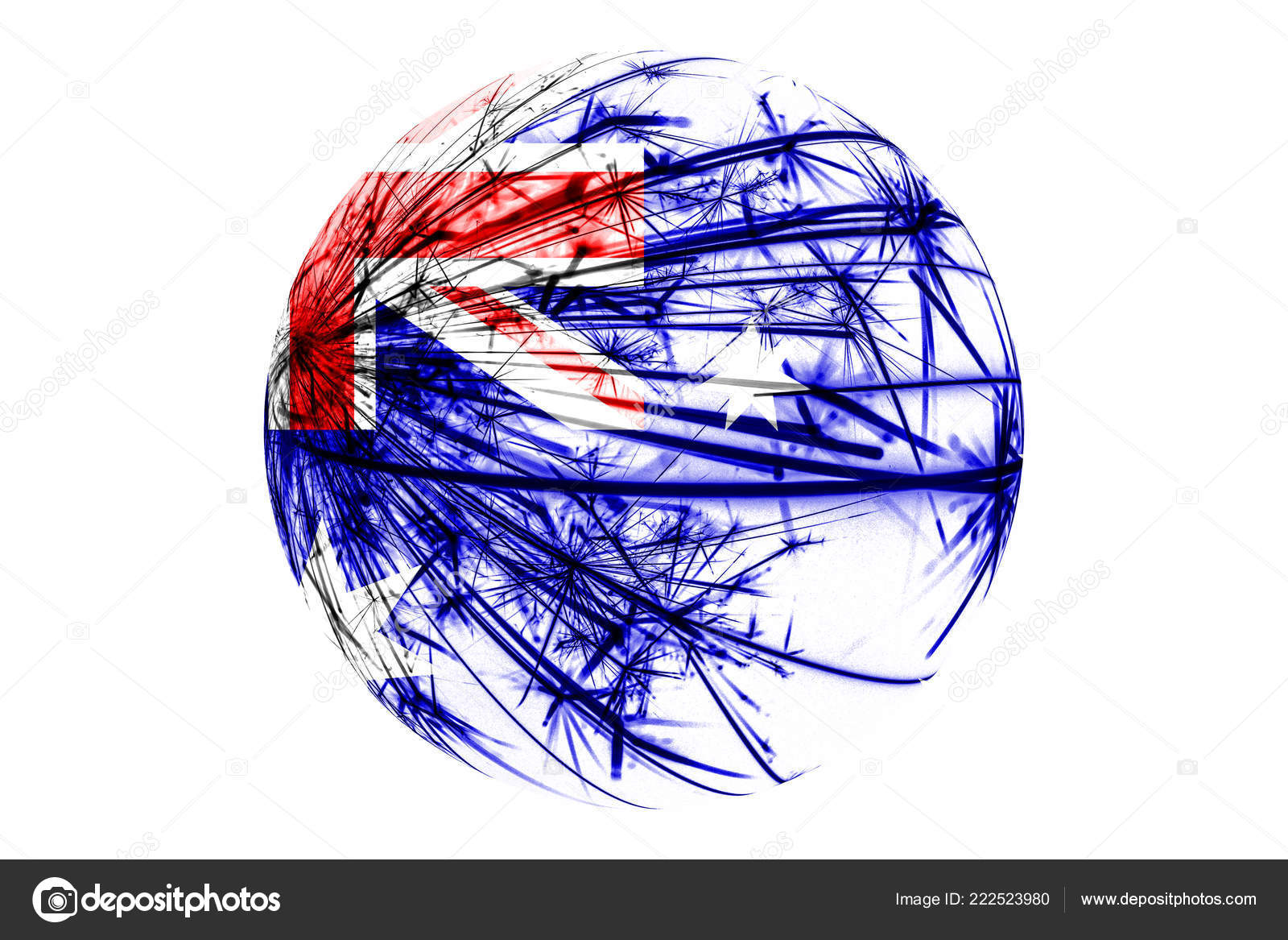 Christmas In Australia Background.Abstract Australia Sparkling Flag Christmas Ball Concept