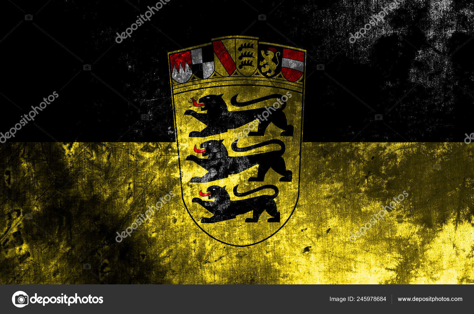Baden Wurttemberg Grunge Flag Germany State Stock Photo Image By C Vladem 245978684