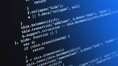 Programming html application code running down a computer screen
