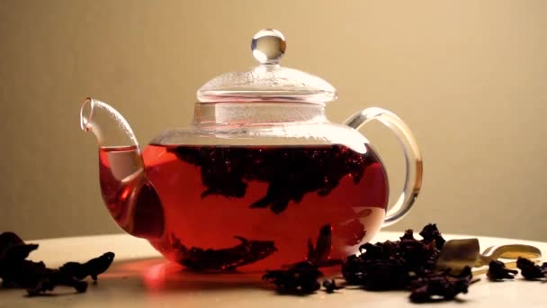 Fast brewing of karkade red tea