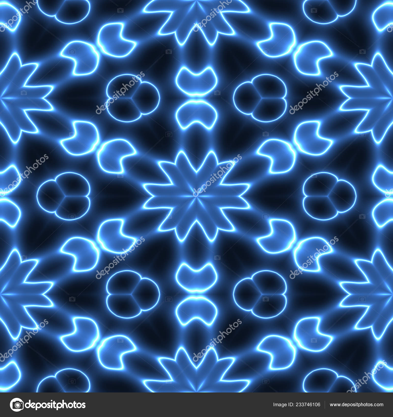Effect Seamless Blue Background Wallpaper Decoration Pattern