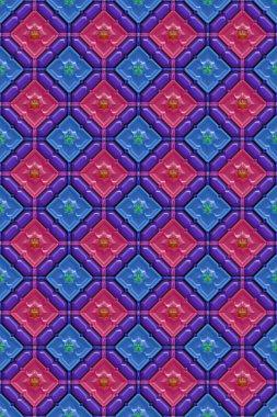 3d effect seamless background wallpaper plastic tiled pattern. stock vector