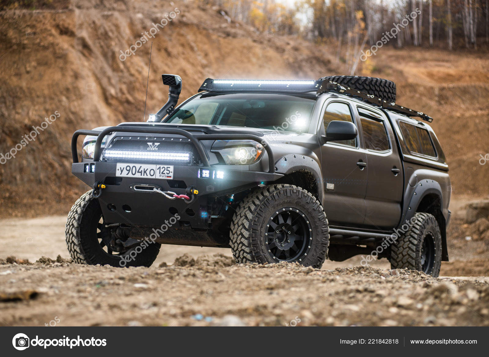 Khabarovsk Russia October 7 2018 Toyota Tacoma Quick Ride On A Offroad Stock Editorial Photo C Alex S 221842818