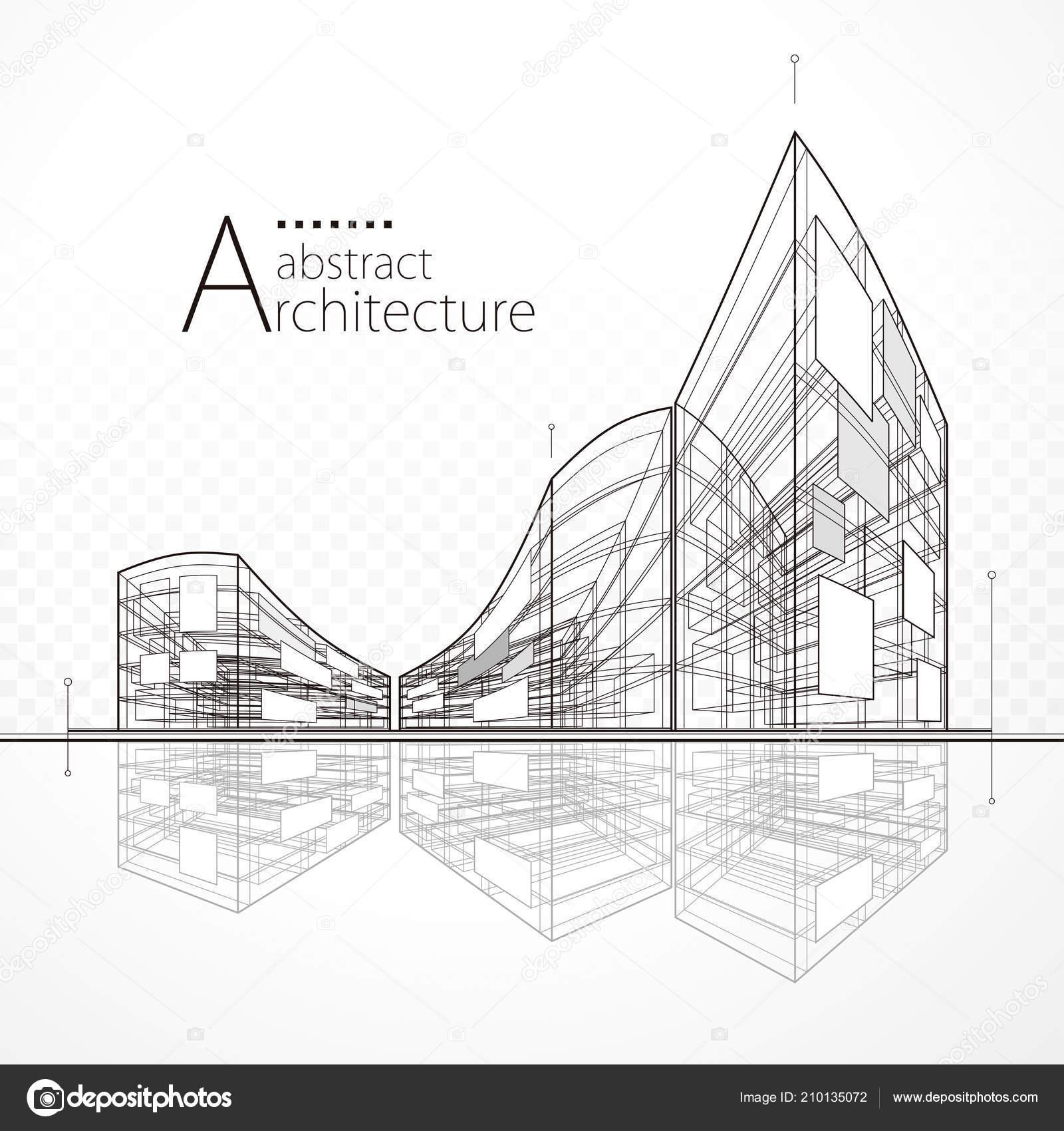 Architektur Perspektive Abstrakte Moderne Städtebauliche Hintergrund