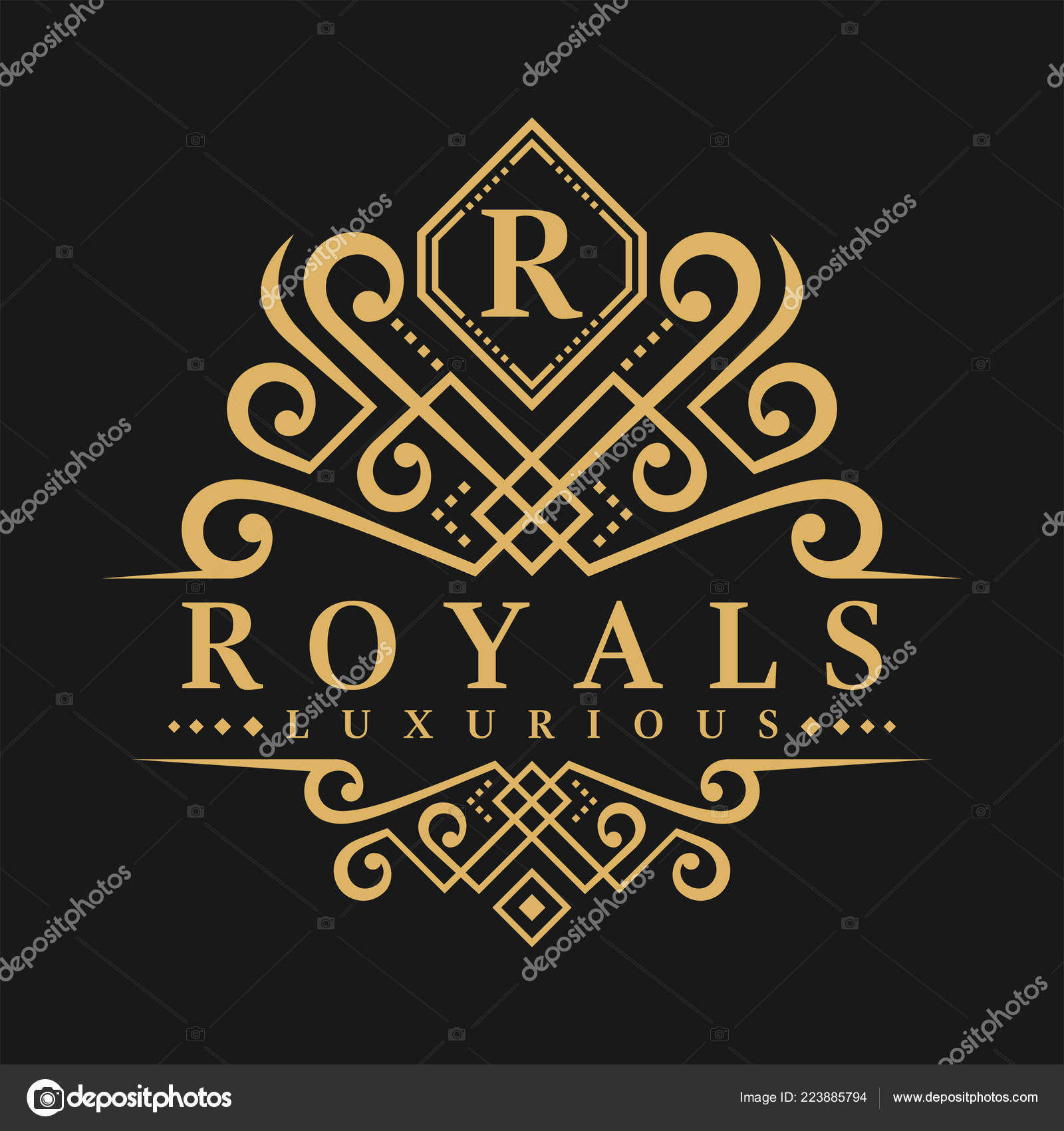 letter logo classic luxurious style logo template stock vector